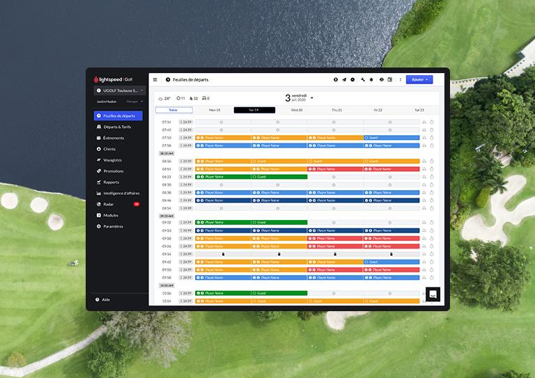 Gérez facilement tous les terrains de golf dans votre portfolio