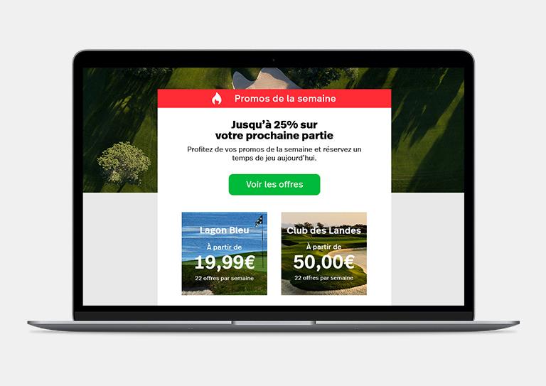 ChronoPitch - Email marketing conçu pour l'industrie du golf